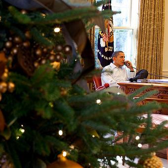 obama kerst