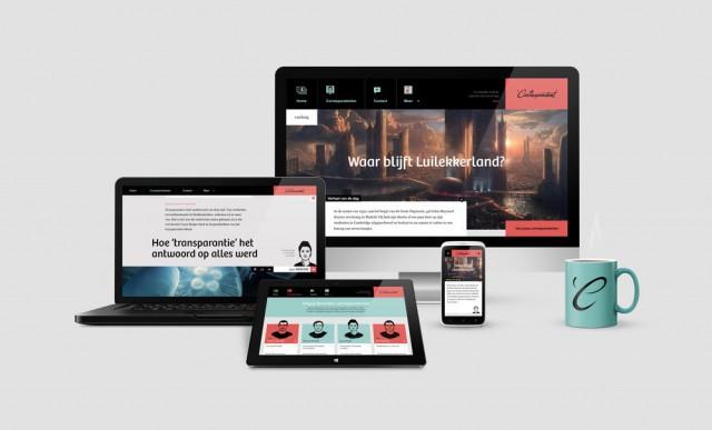 responsive web design of de correspondent
