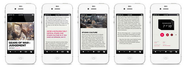 Mobile screenshots of Polygon, Vox Media's gaming site.