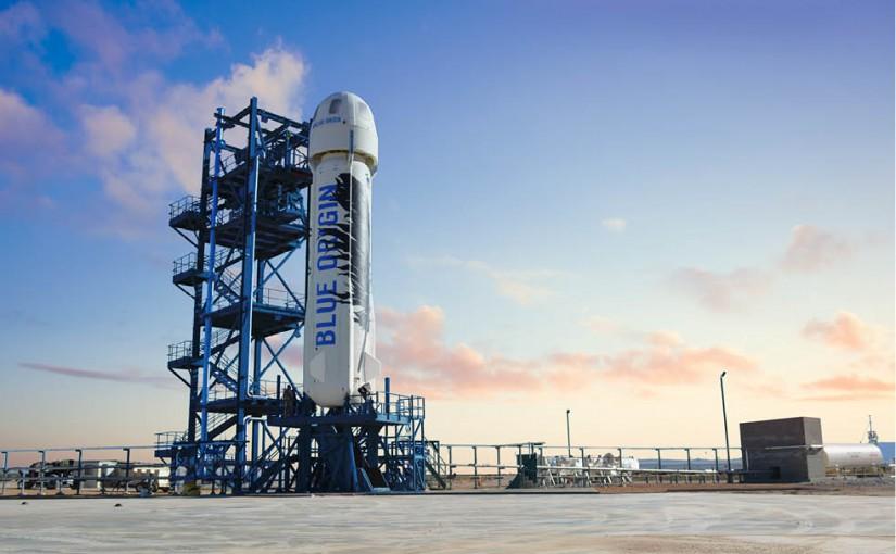 De raket van Jeff Bezos