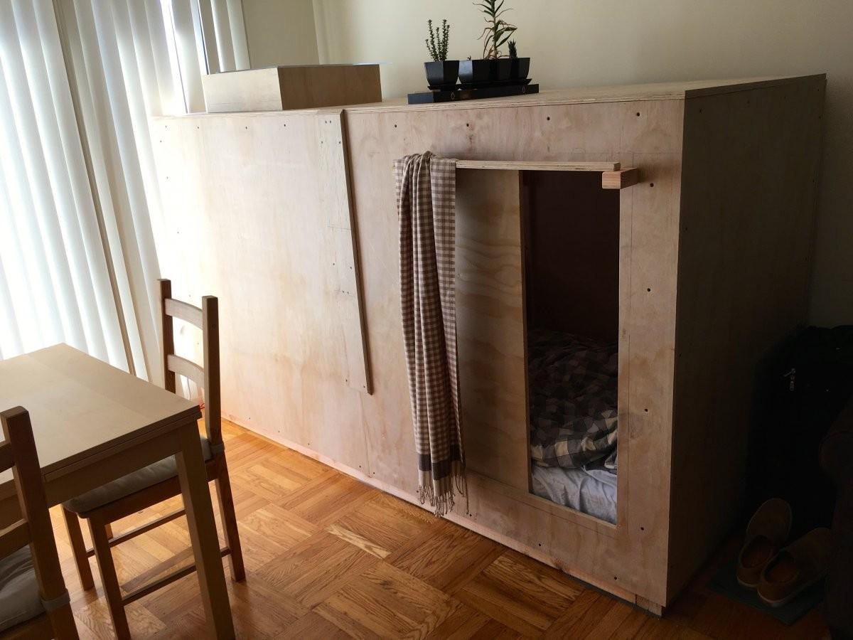 Wie in San Francisco geen kamer kan betalen, bouwt dan maar een cabine